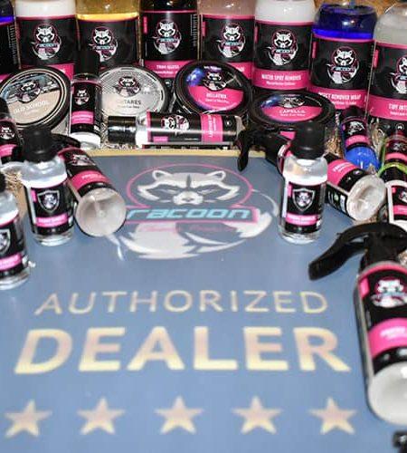 široký sortiment produktů autokosmetiky Racoon Cleaning Products Autorizovaný dealer pro SK